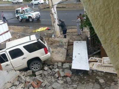 المفارجة بمنطقة الباحة وفاة رجل في حادث سيارة بعد سقوط الأمطار