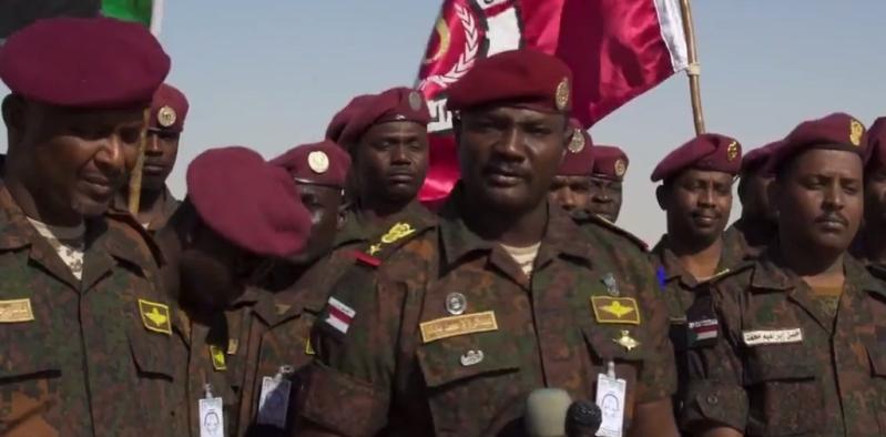 المقدم الركن عبدالرزاق محمد بابكر قائد القوة السودانية المشاركة برعد الشمال