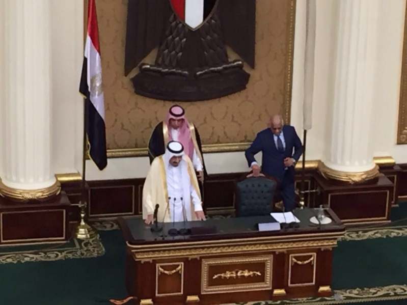الملك اثناء وصولة البرلمان (1) 