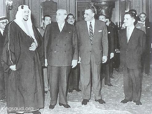 الملك سعود والرئيس السوري3