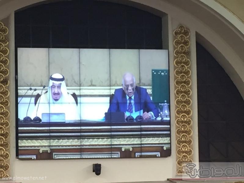 الملك سلمان اثناء البرلمان (1)