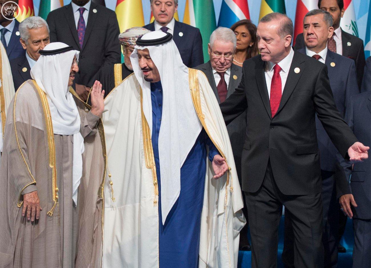 الملك سلمان بالقمة الاسلامية بتركيا (1)