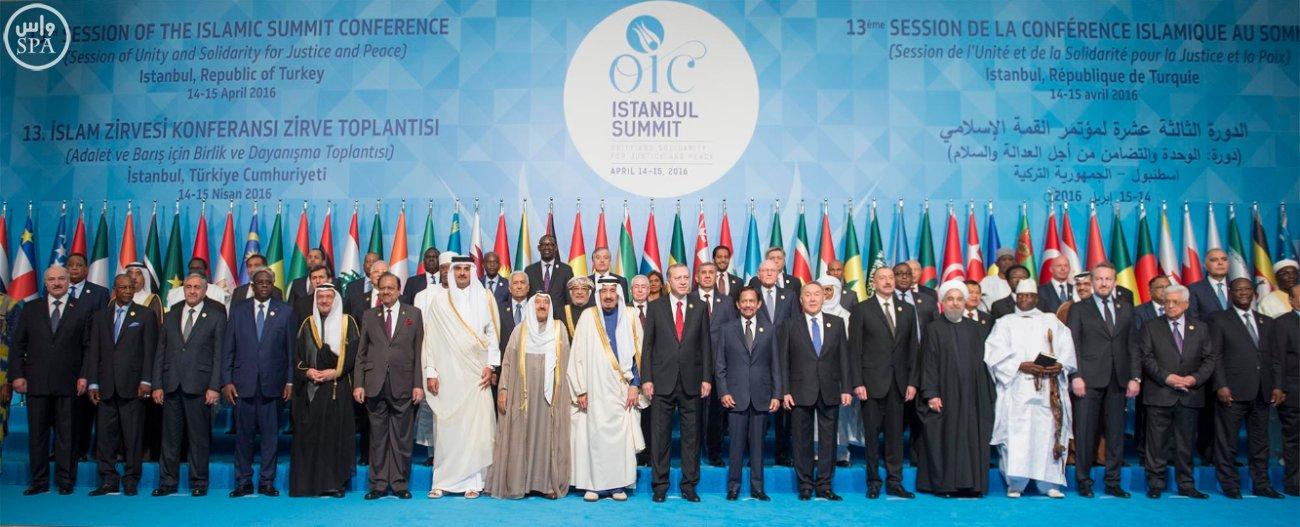 الملك سلمان بالقمة الاسلامية بتركيا (10)