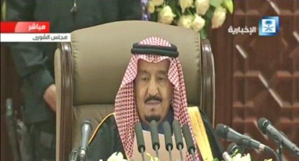 الملك سلمان في خطابه الملكي أمام الشورى الإنسان السعودي هدف التنمية الأول