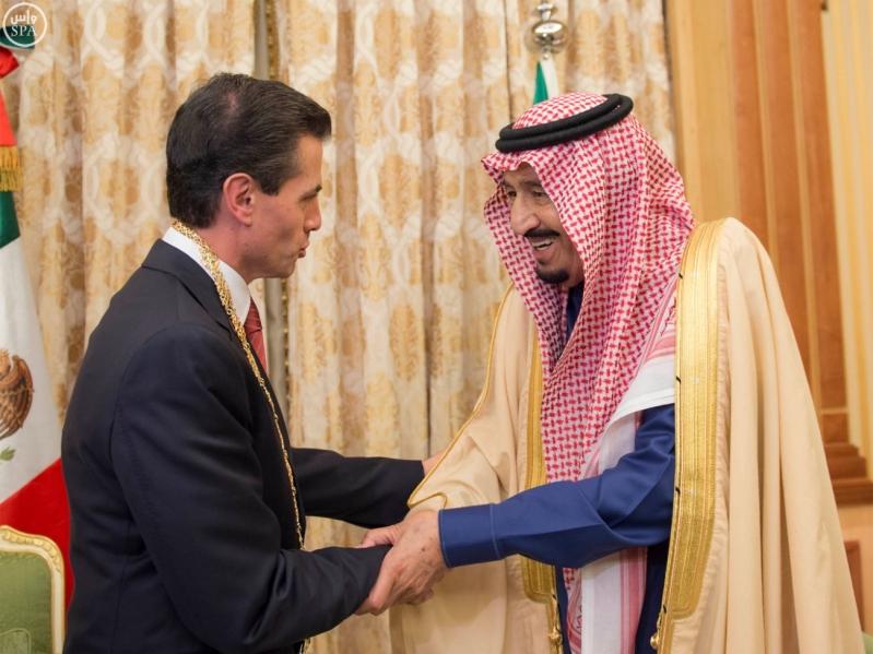 الملك سلمان مع الرئيس المكسيكي4