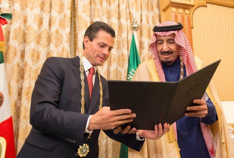 الملك سلمان مع الرئيس المكسيكي6