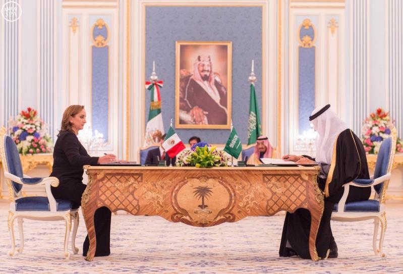 الملك سلمان مع الرئيس المكسيكي8
