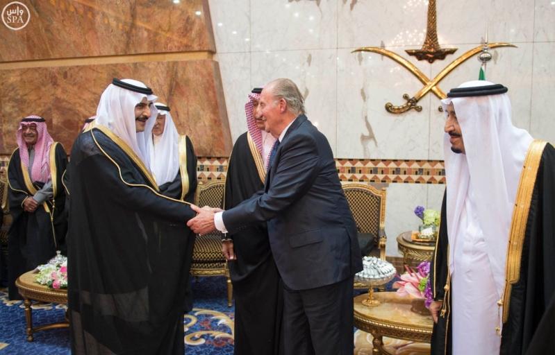 الملك سلمان مع خوان كارلوس ملك إسبانيا 6