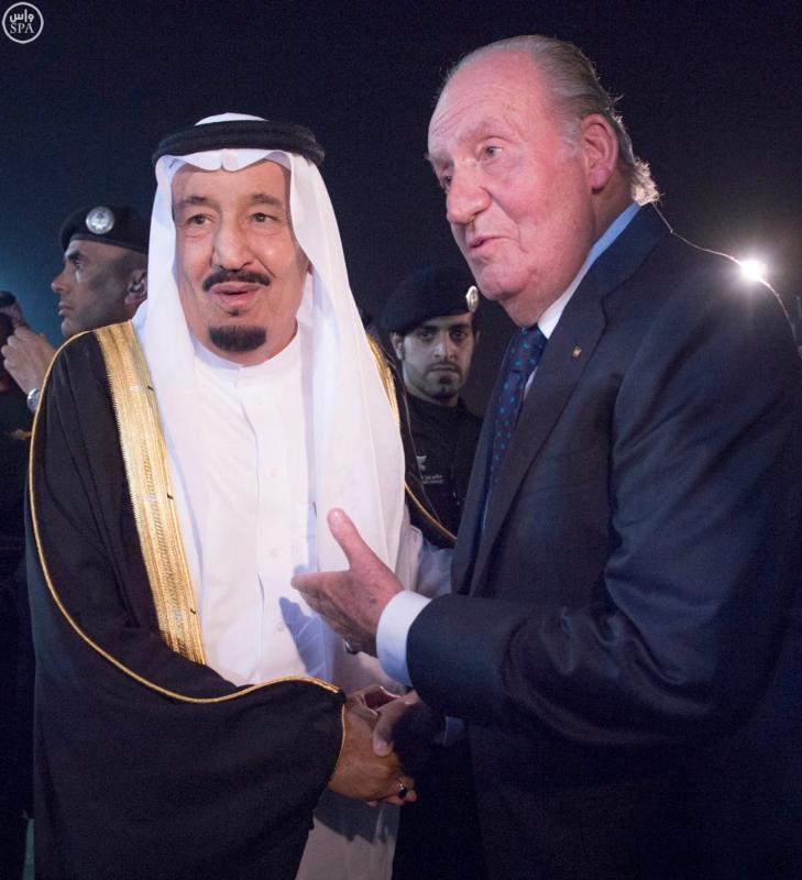 الملك سلمان مع خوان كارلوس ملك إسبانيا5