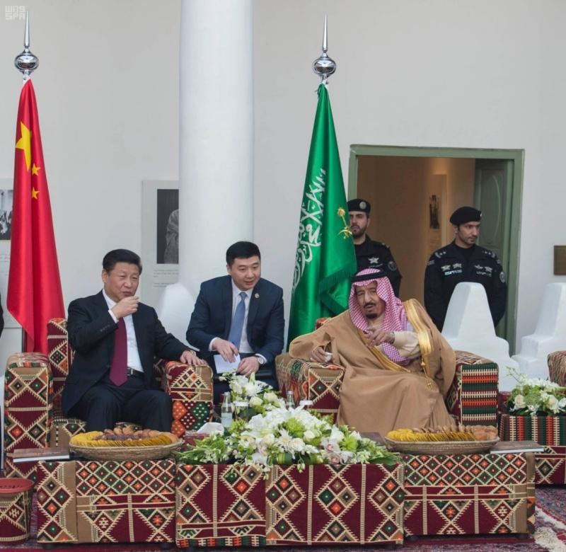 الملك سلمان مع رئيس الصين2