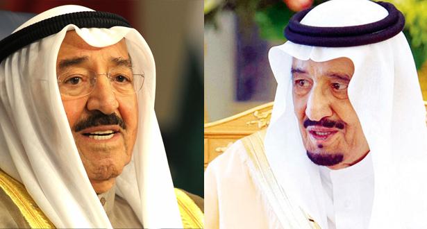 الملك سلمان وامير الكويت