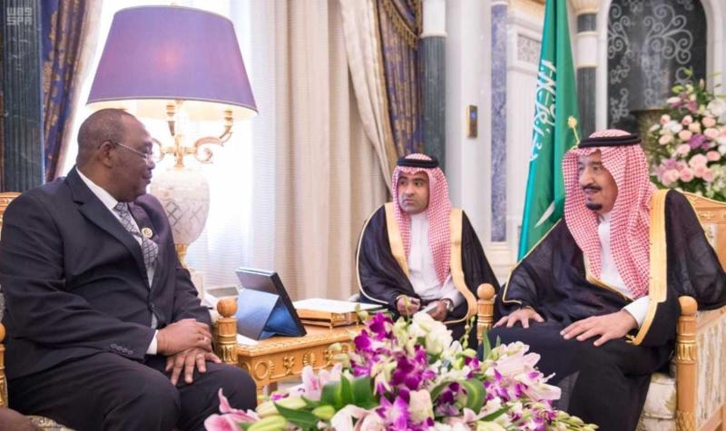 الملك سلمان ورئيس جمعية تشاد (1)