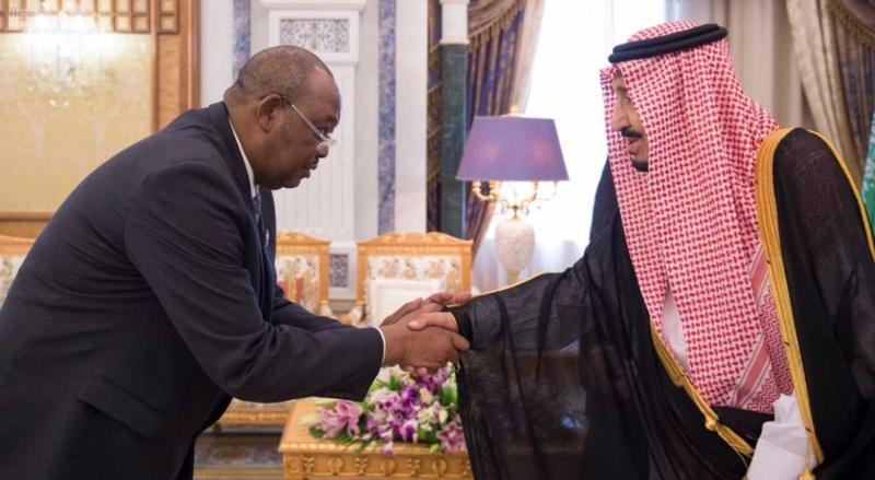 الملك سلمان ورئيس جمعية تشاد (3)