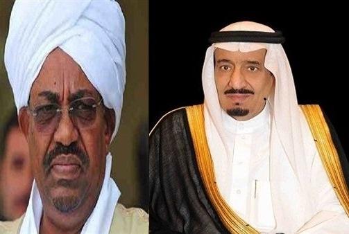 الملك سلمان وعمر البشير رئيس السودان