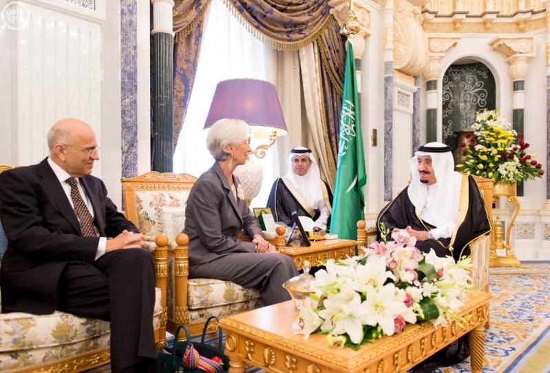 الملك-سلمان ومدير-النقد-الدولي