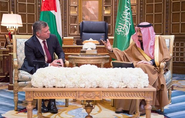 جلسة مباحثات سعودية أردنية في قصر الملك سلمان