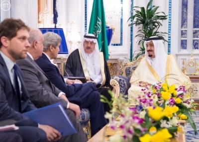 الملك سلمان ووزير الخارجية الامريكي جون كيري2