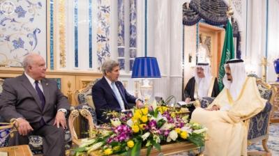 الملك سلمان ووزير الخارجية الامريكي جون كيري3