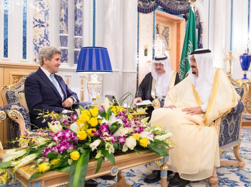 الملك سلمان ووزير الخارجية الامريكي جون كيري5