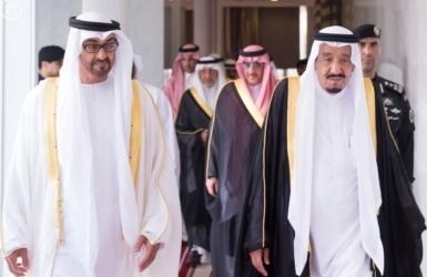 الملك سلمان وولي عهد أبو ظبي