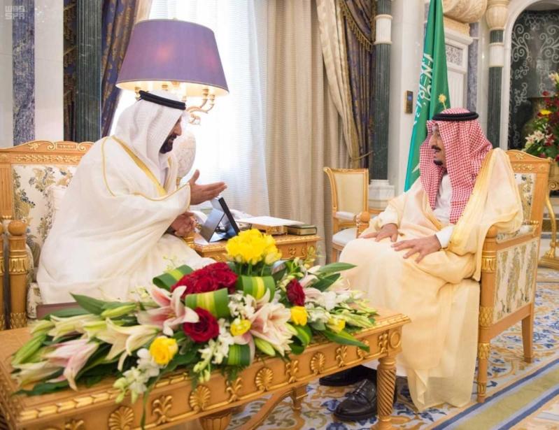 الملك سلمان يتلقى دعوة من ولي عهد أبو ظبي (1)