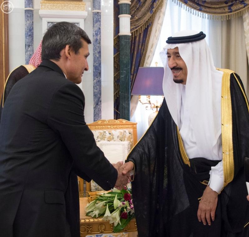الملك سلمان يستقبل الرئيس التركمانستان2