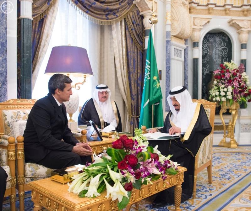 الملك سلمان يستقبل الرئيس التركمانستان4
