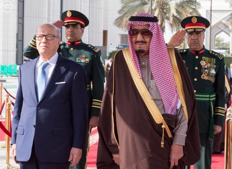 الملك سلمان يستقبل الرئيس التونسي 1