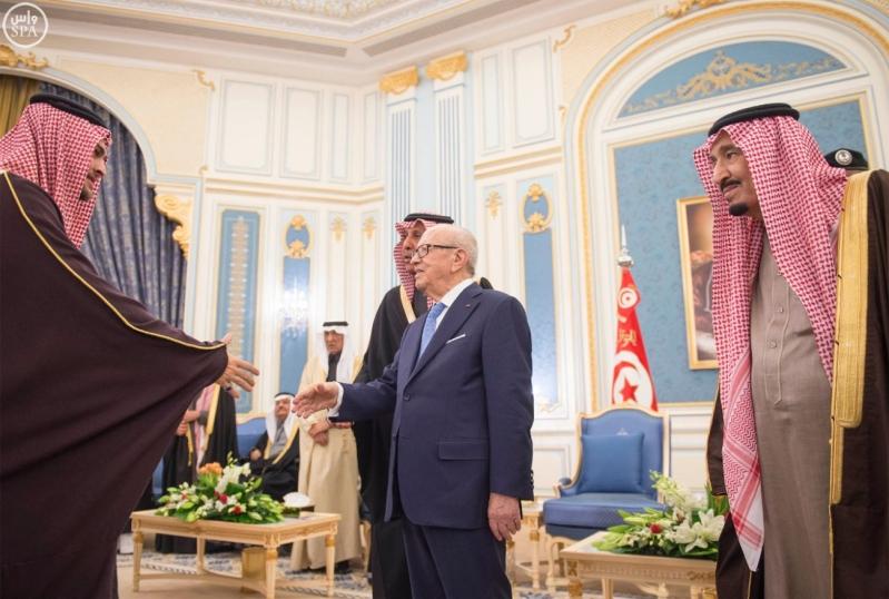 الملك سلمان يستقبل الرئيس التونسي 12