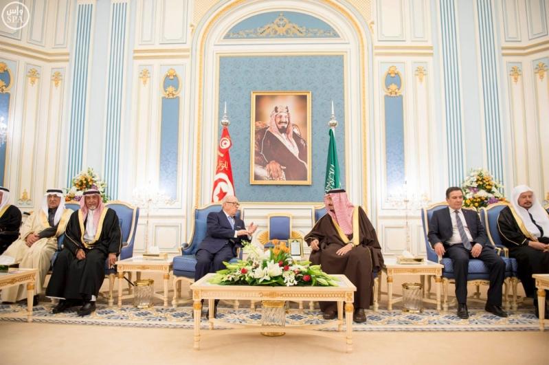 الملك سلمان يستقبل الرئيس التونسي 13