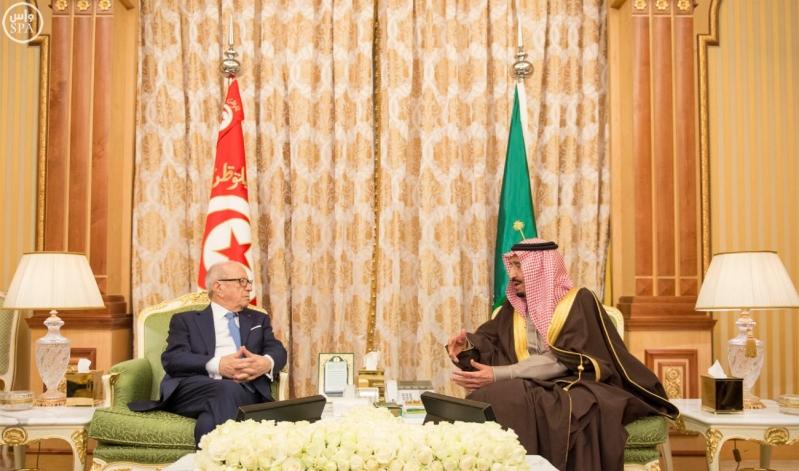 الملك سلمان يستقبل الرئيس التونسي 15