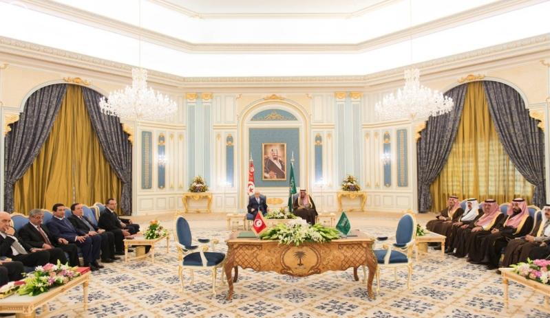 الملك سلمان يستقبل الرئيس التونسي 16