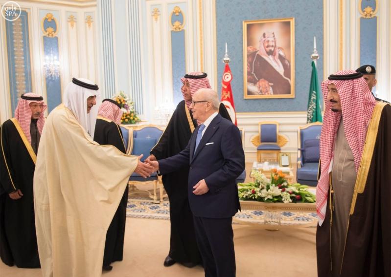 الملك سلمان يستقبل الرئيس التونسي 17