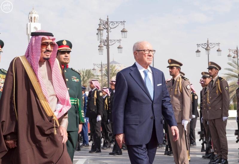 الملك سلمان يستقبل الرئيس التونسي 2