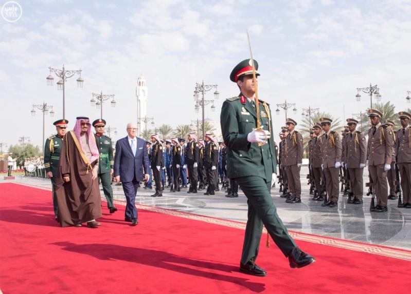 الملك سلمان يستقبل الرئيس التونسي 3