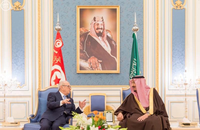 الملك سلمان يستقبل الرئيس التونسي 6