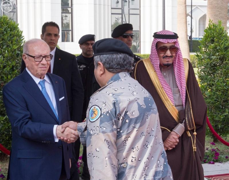 الملك سلمان يستقبل الرئيس التونسي 7