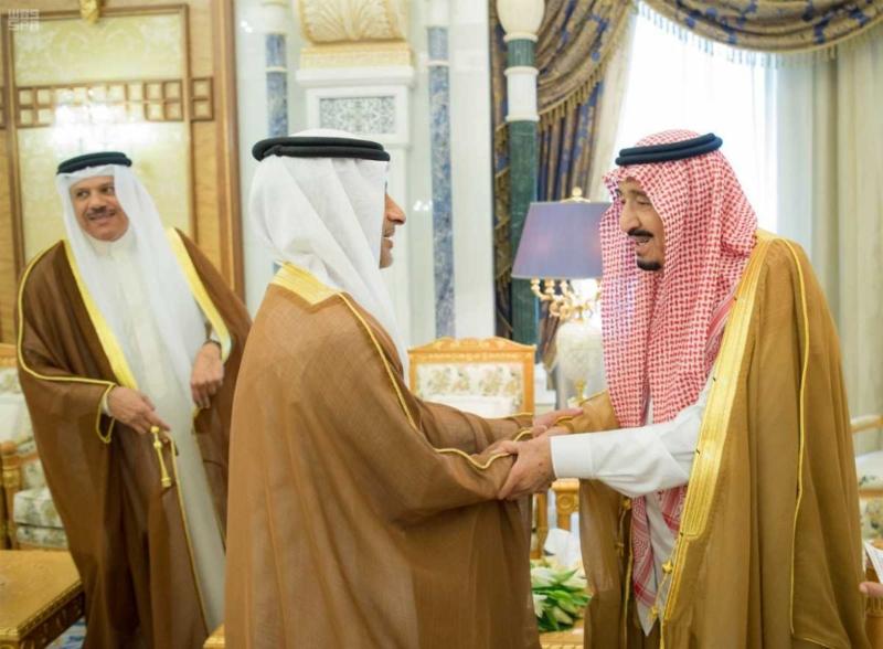 الملك سلمان يستقبل رؤساء دواوين مجلس التعاون (1)