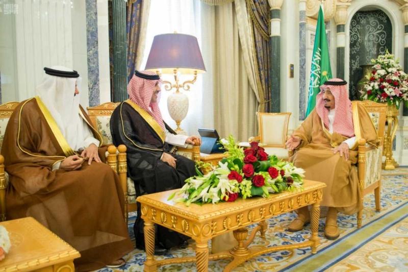 الملك سلمان يستقبل رؤساء دواوين مجلس التعاون (4)