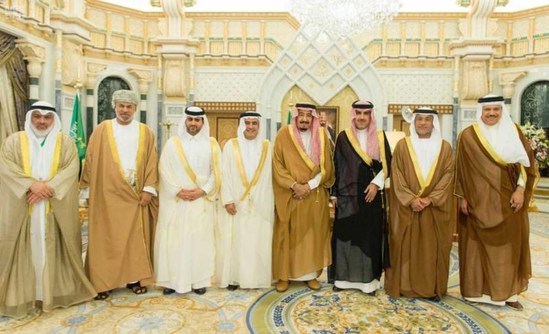 الملك سلمان يستقبل رؤساء دواوين مجلس التعاون (5)