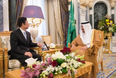 الملك سلمان يستقبل رئيس الصين1