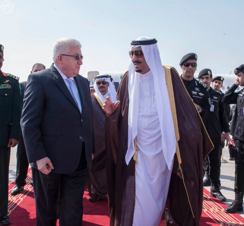 الملك-سلمان-يستقبل-رئيس-العراق