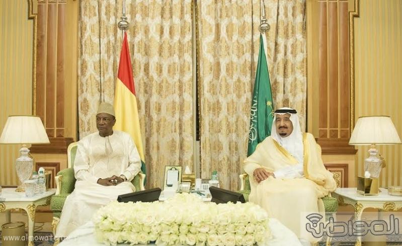 الملك سلمان يستقبل رئيس غينا17
