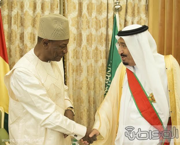 الملك سلمان يستقبل رئيس غينا18