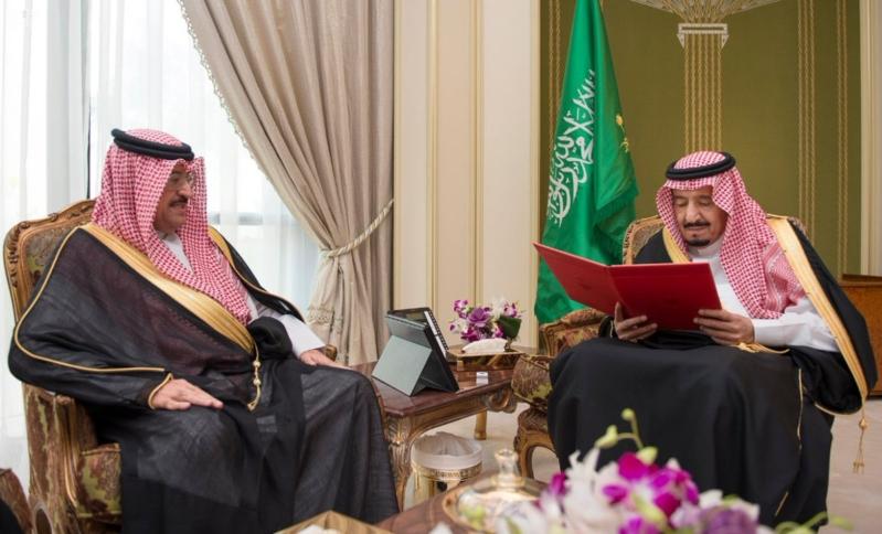 الملك سلمان يستقبل سفير البحرين1