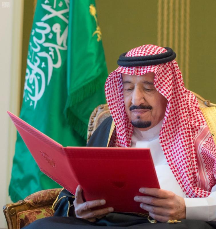 الملك سلمان يستقبل سفير البحرين2
