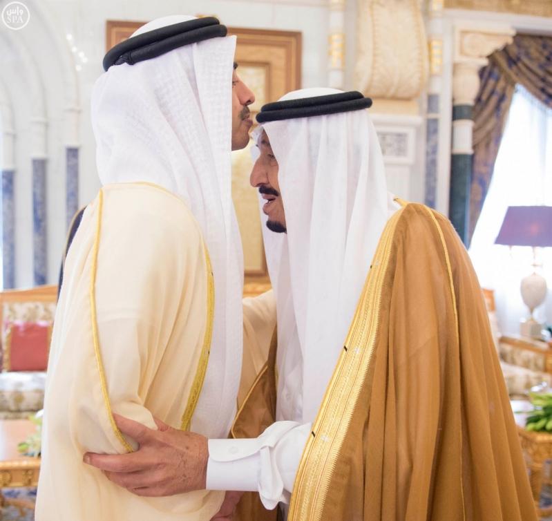الملك سلمان يستقبل عبدالله بن زايد
