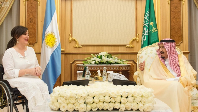 الملك سلمان يستقبل نائبة رئيس الأرجنتين6