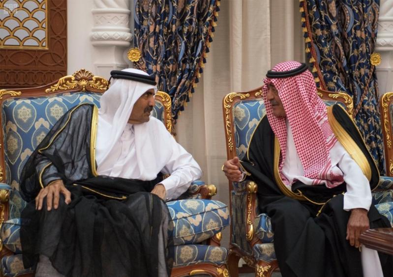 الملك سلمان يعزي امير قطر 1