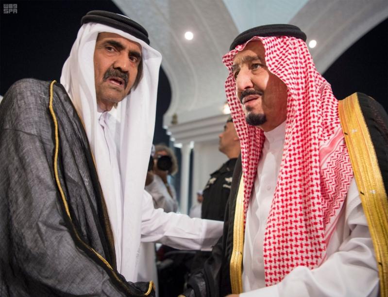 الملك سلمان يعزي امير قطر 10